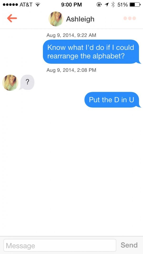 Tinder pick-up lines: Here are the 15 funniest ones