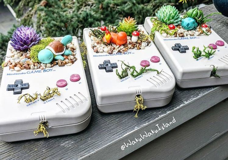 10 superb Pokemon planters created with Game Boy consoles