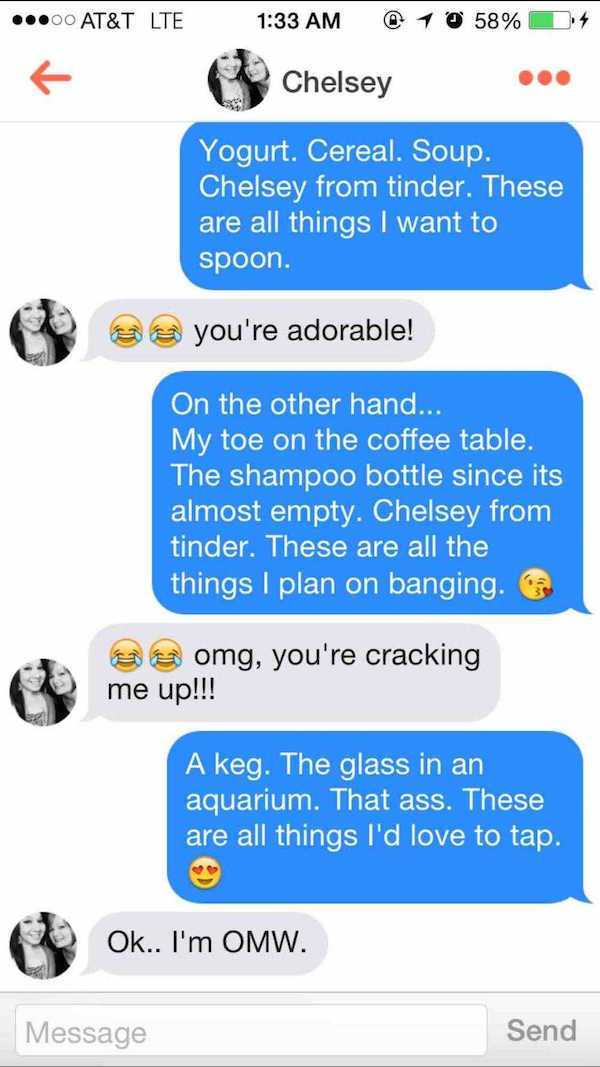 Coffee Table Pick Up Line.Tinder Pick Up Lines Here Are The 15 Funniest Ones